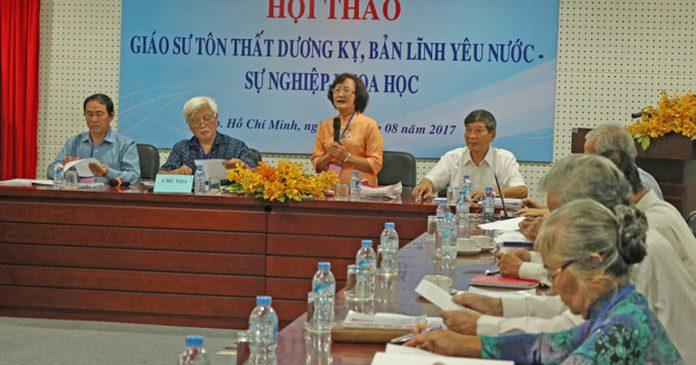 PGS.TS. Tôn Nữ Quỳnh Trân - Chủ nhiệm đề tài phát biểu trong hội thảo